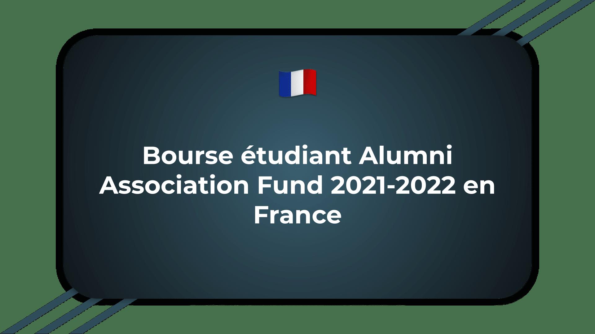 Bourse étudiant Alumni Association Fund