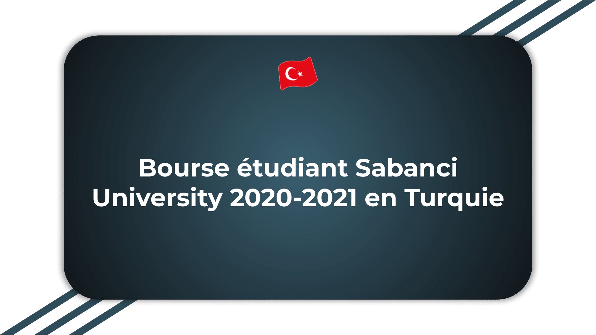 Bourse étudiant Sabanci University