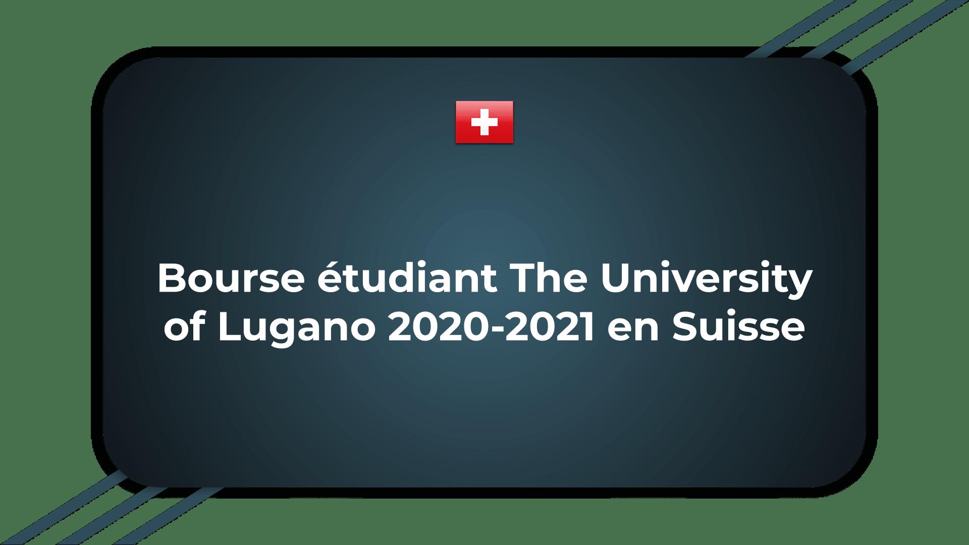 Bourse étudiant The University of Lugano