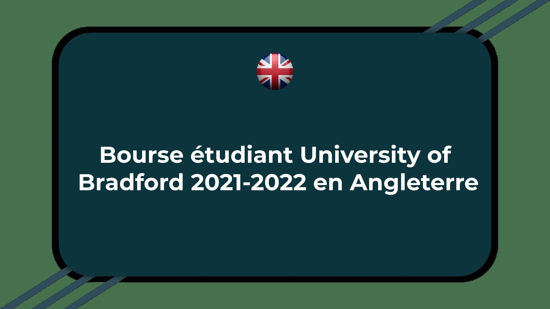Bourse étudiant University of Bradford