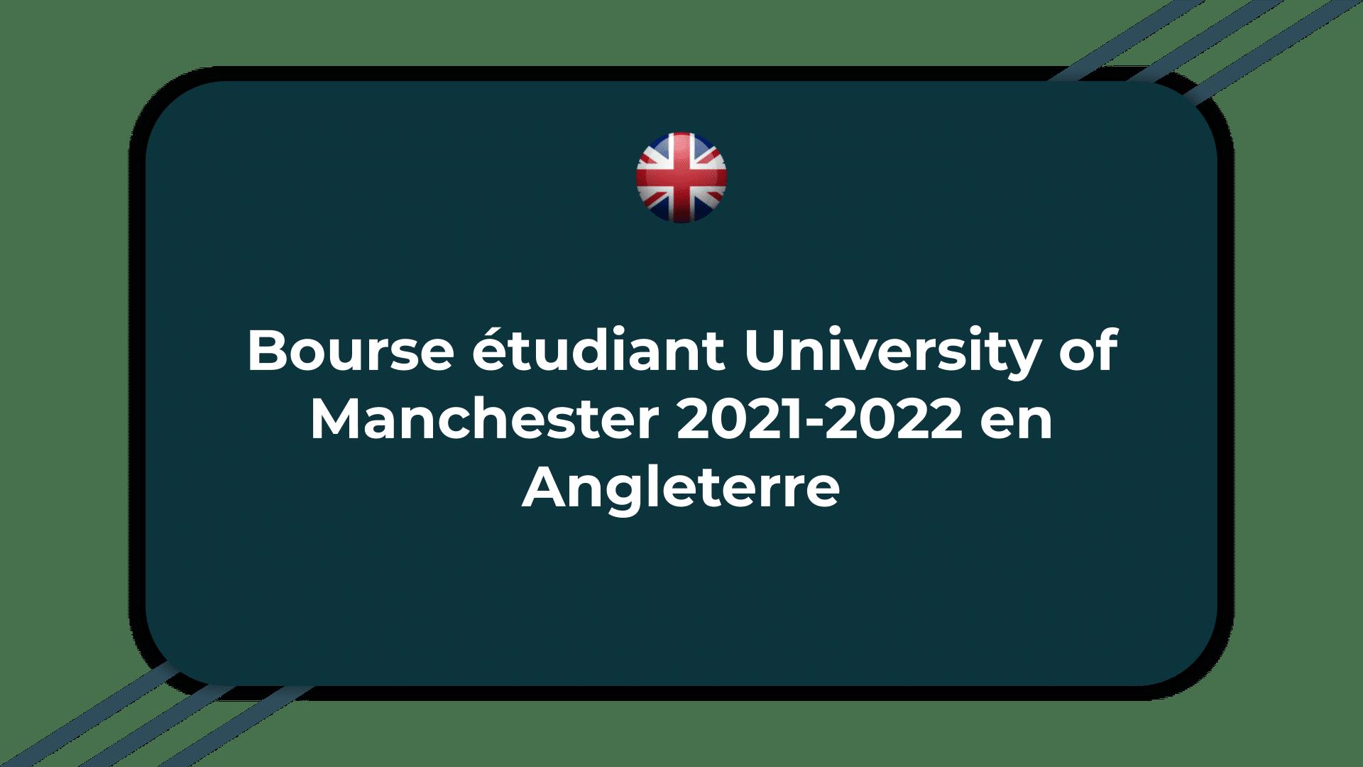 Bourse étudiant University of Manchester