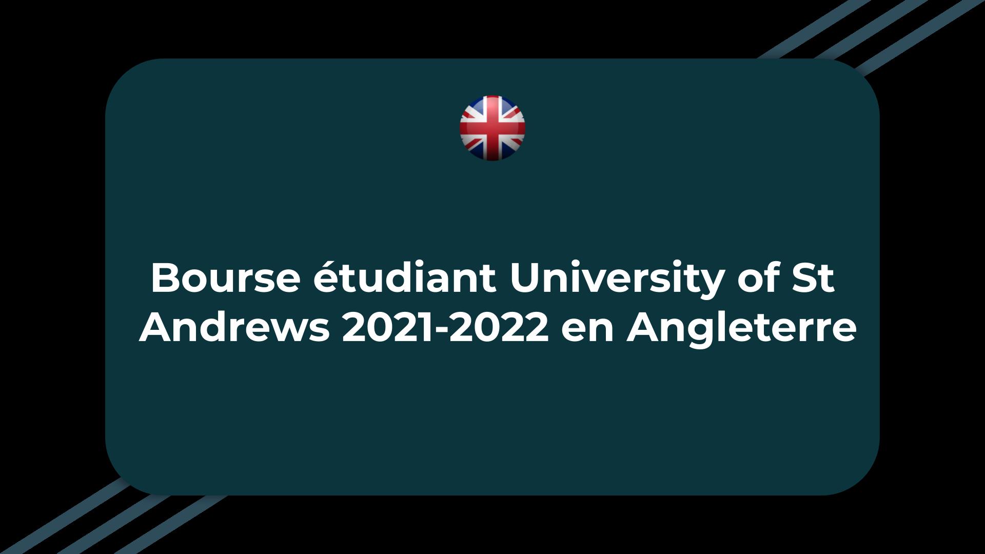 Bourse étudiant University of St Andrews