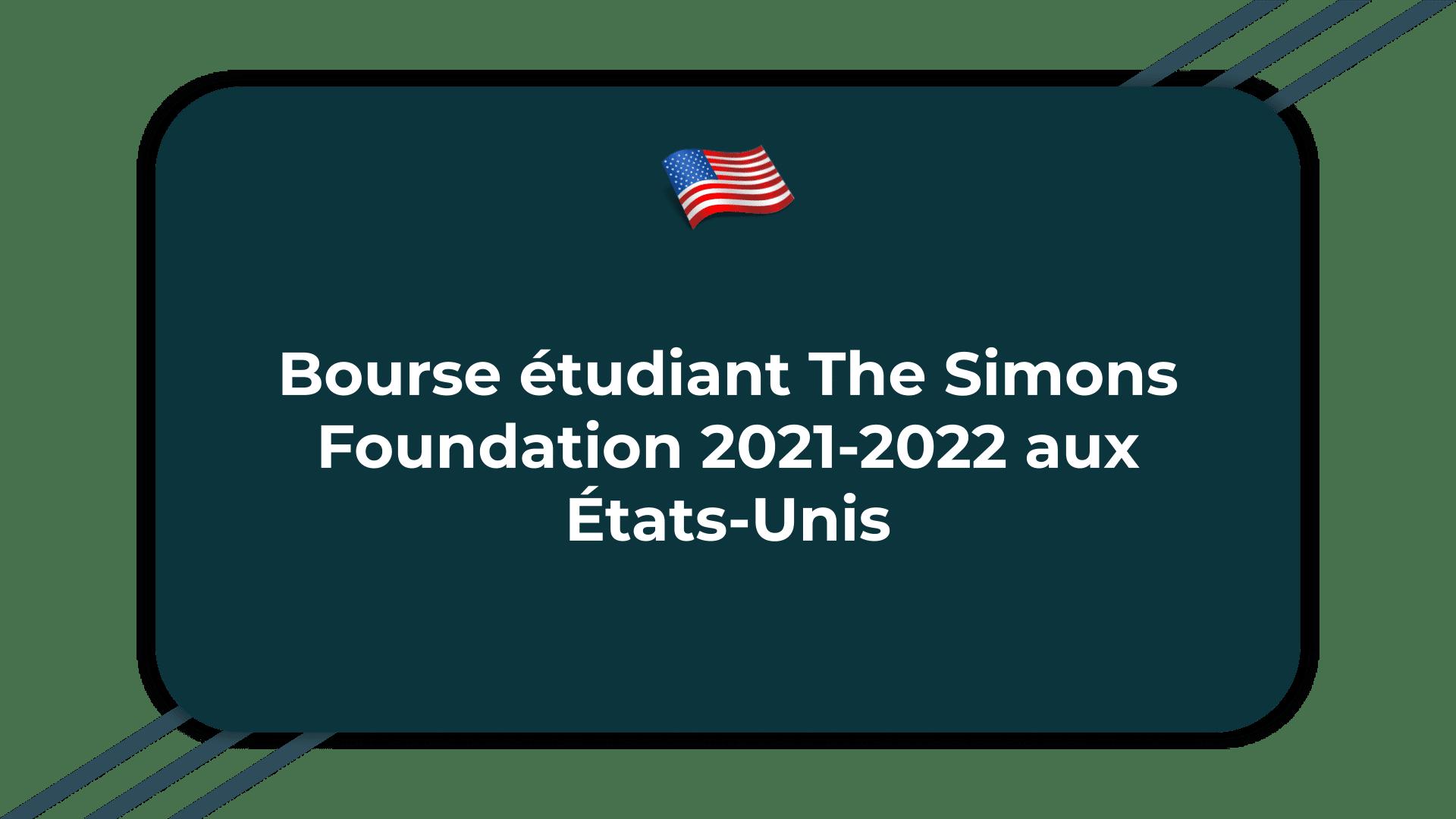 Bourse étudiant The Simons Foundation