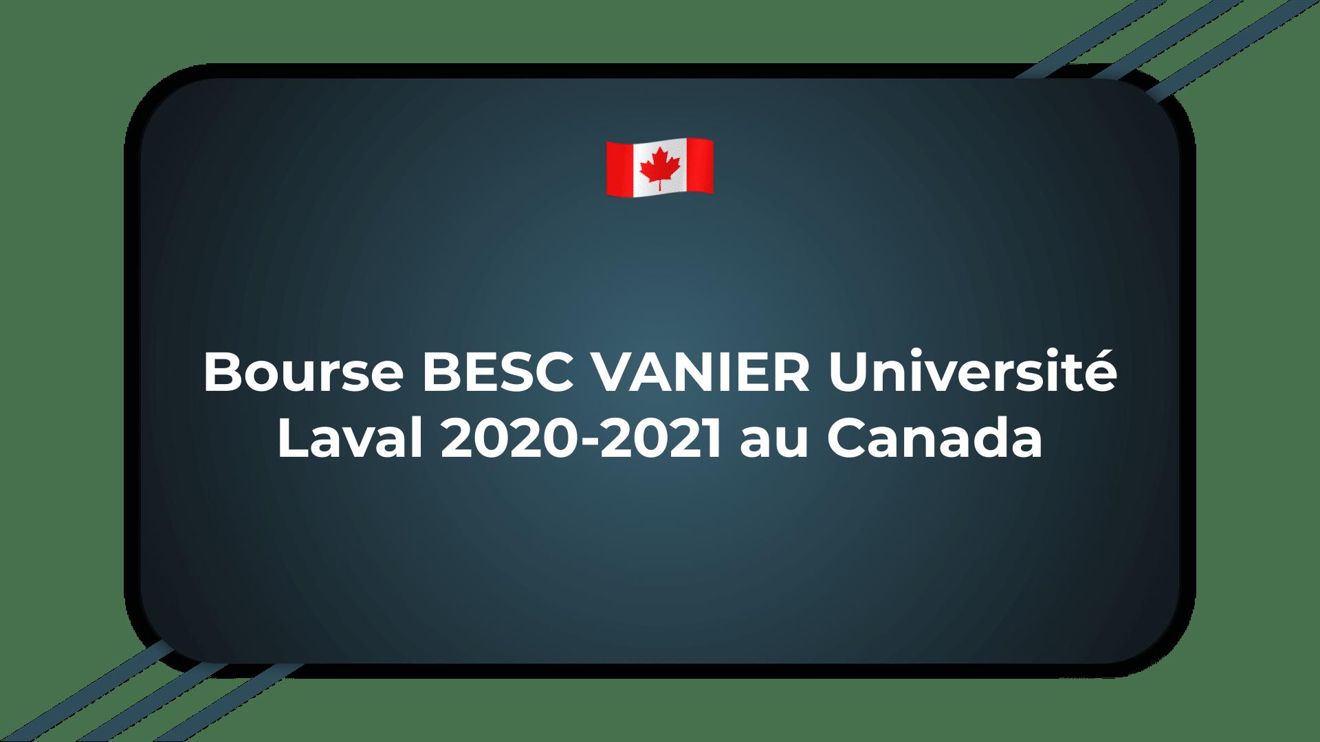 Bourse BESC VANIER Université Laval