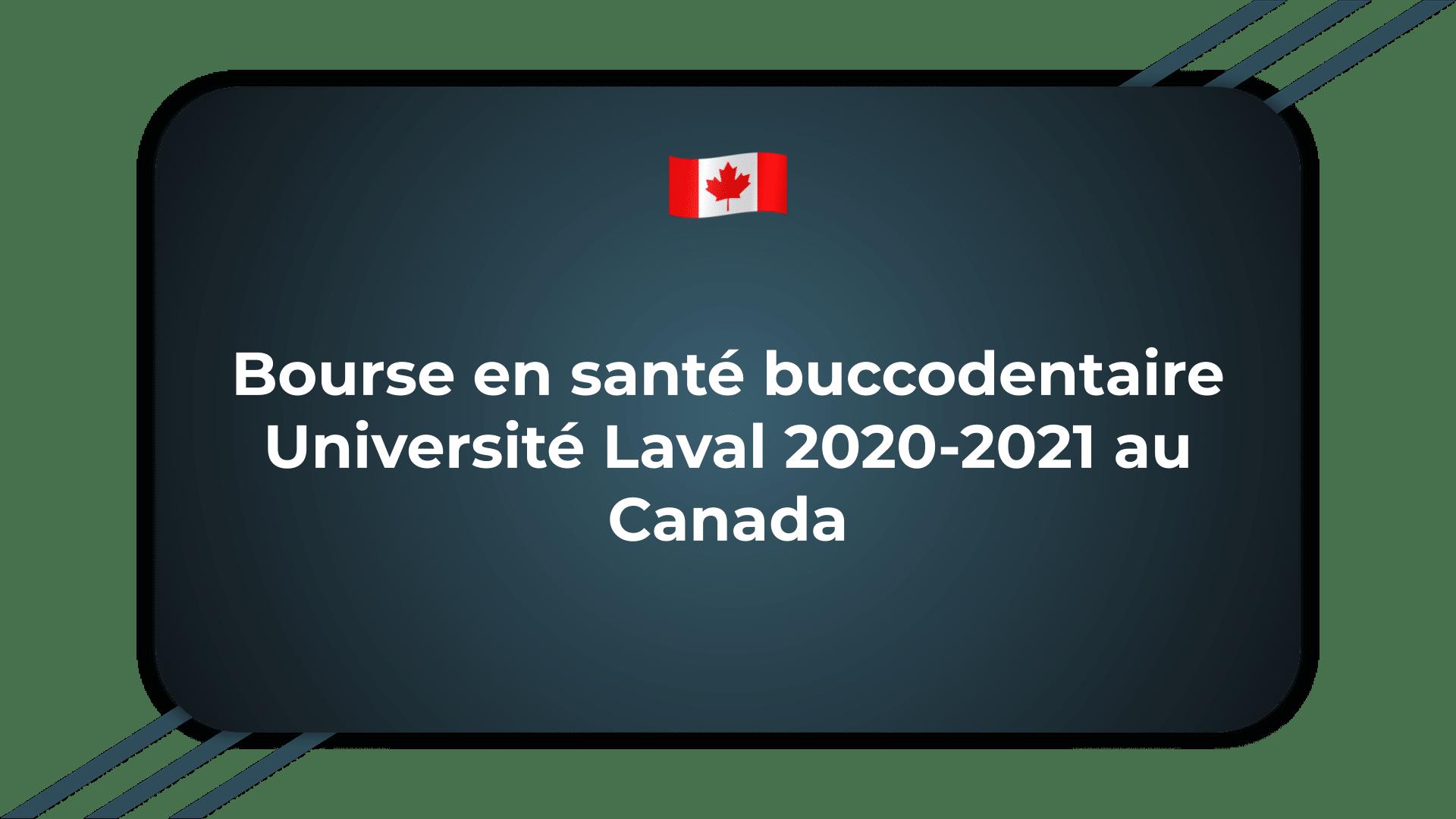 Bourse en santé buccodentaire Université Laval