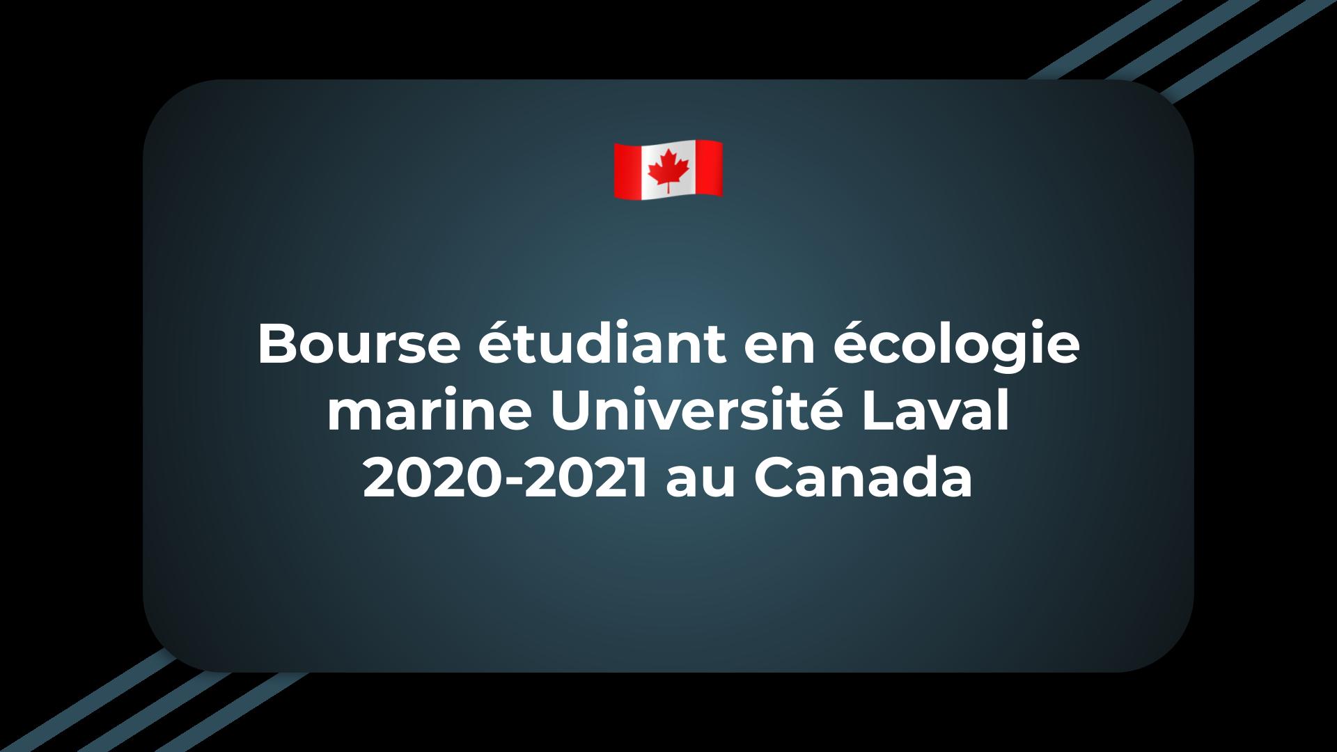 Bourse étudiant en écologie marine Université Laval