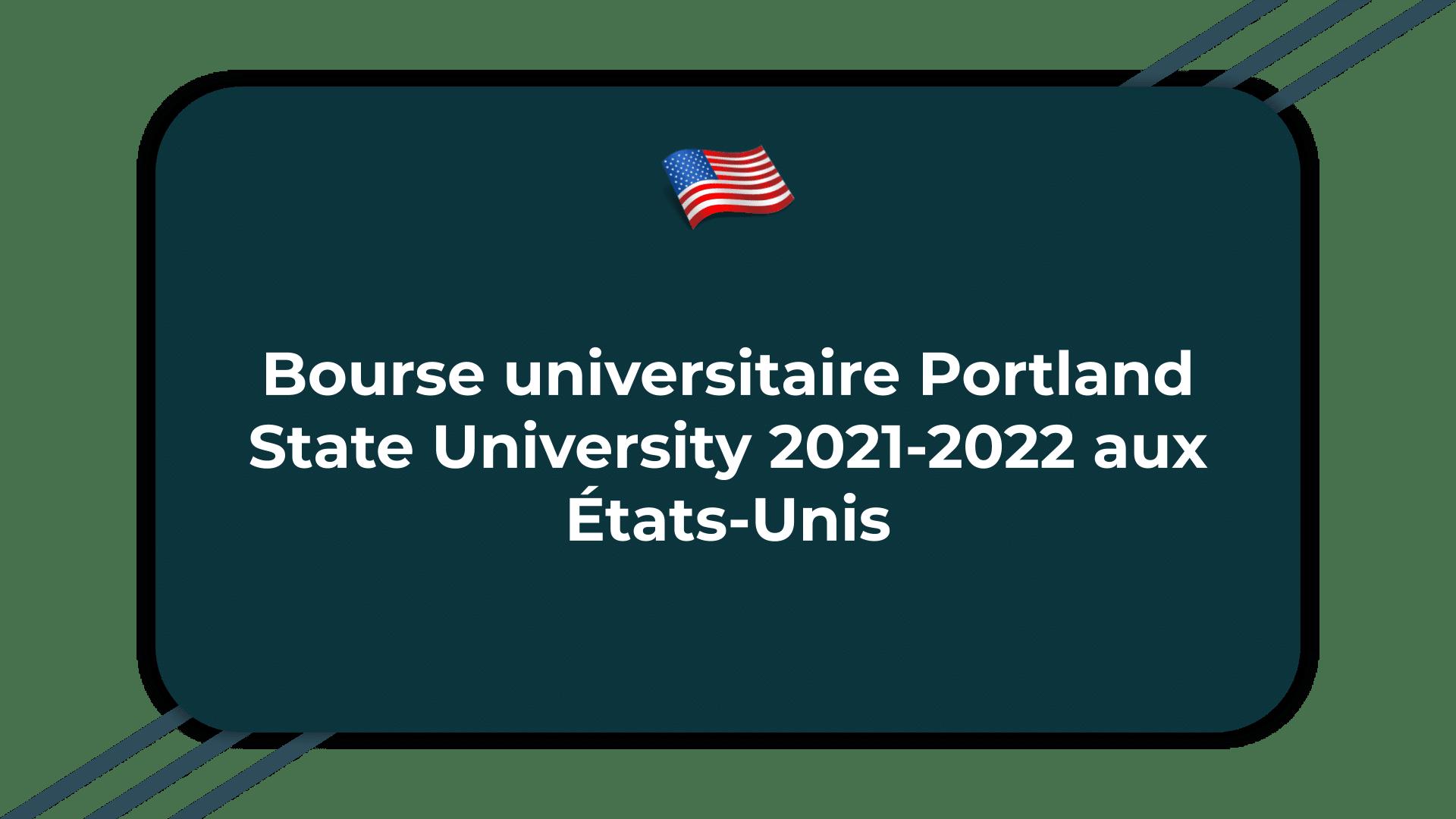 Bourse universitaire Portland State University