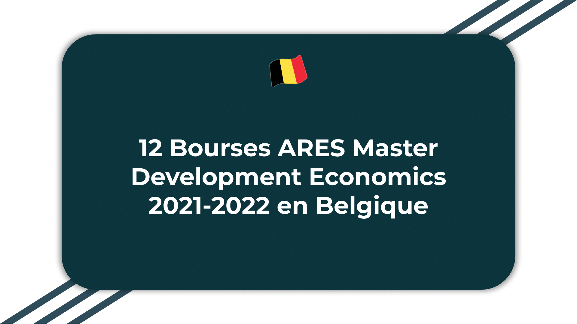12 Bourses ARES Master Development Economics