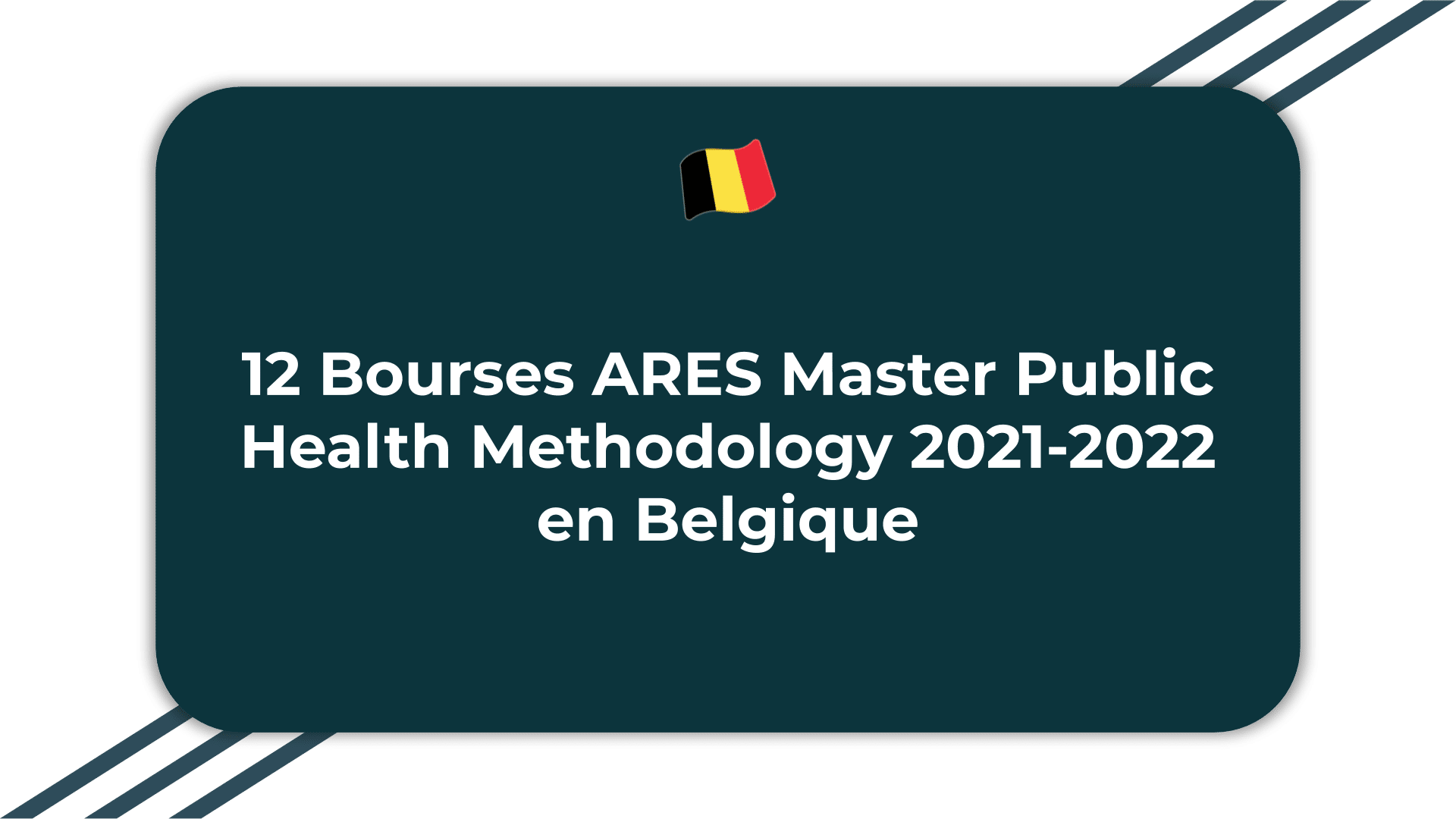 12 Bourses ARES Master Public Health Methodology
