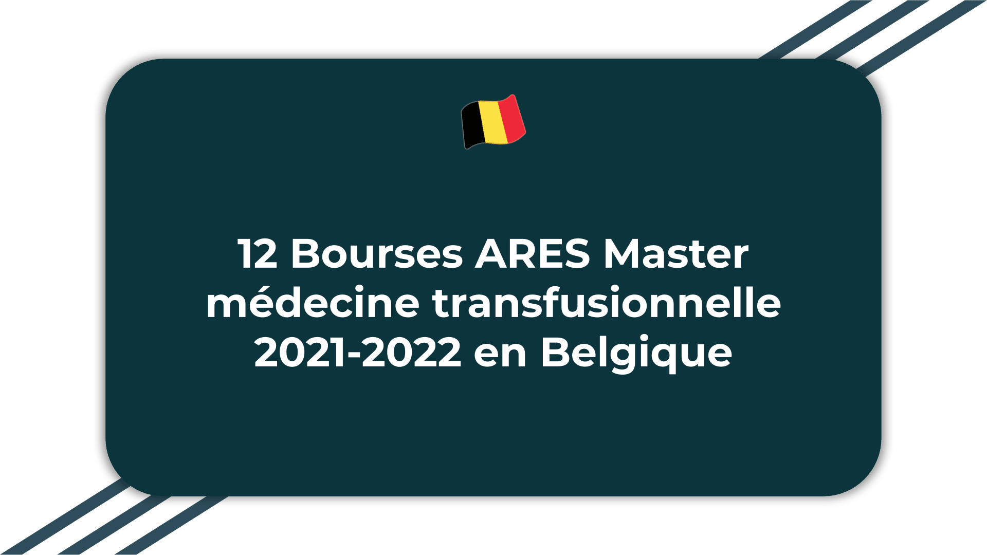 12 Bourses ARES Master médecine transfusionnelle