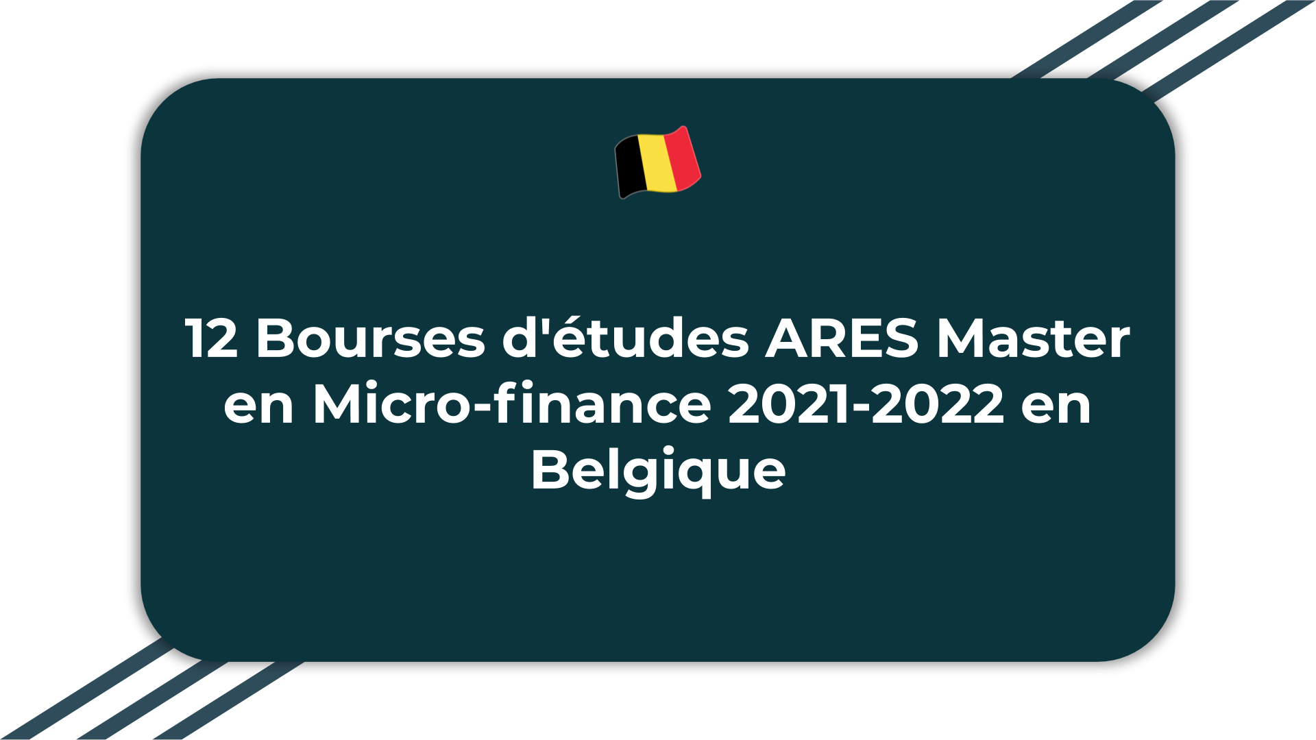 12 Bourses d'études ARES Master en Micro-finance