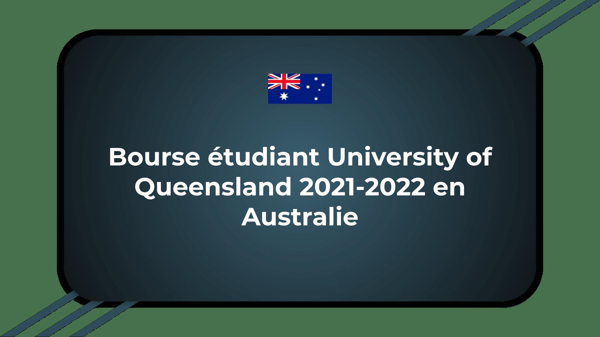 Bourse étudiant University of Queensland