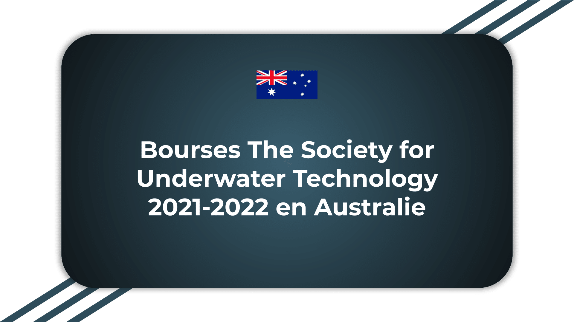 Bourses The Society for Underwater Technology