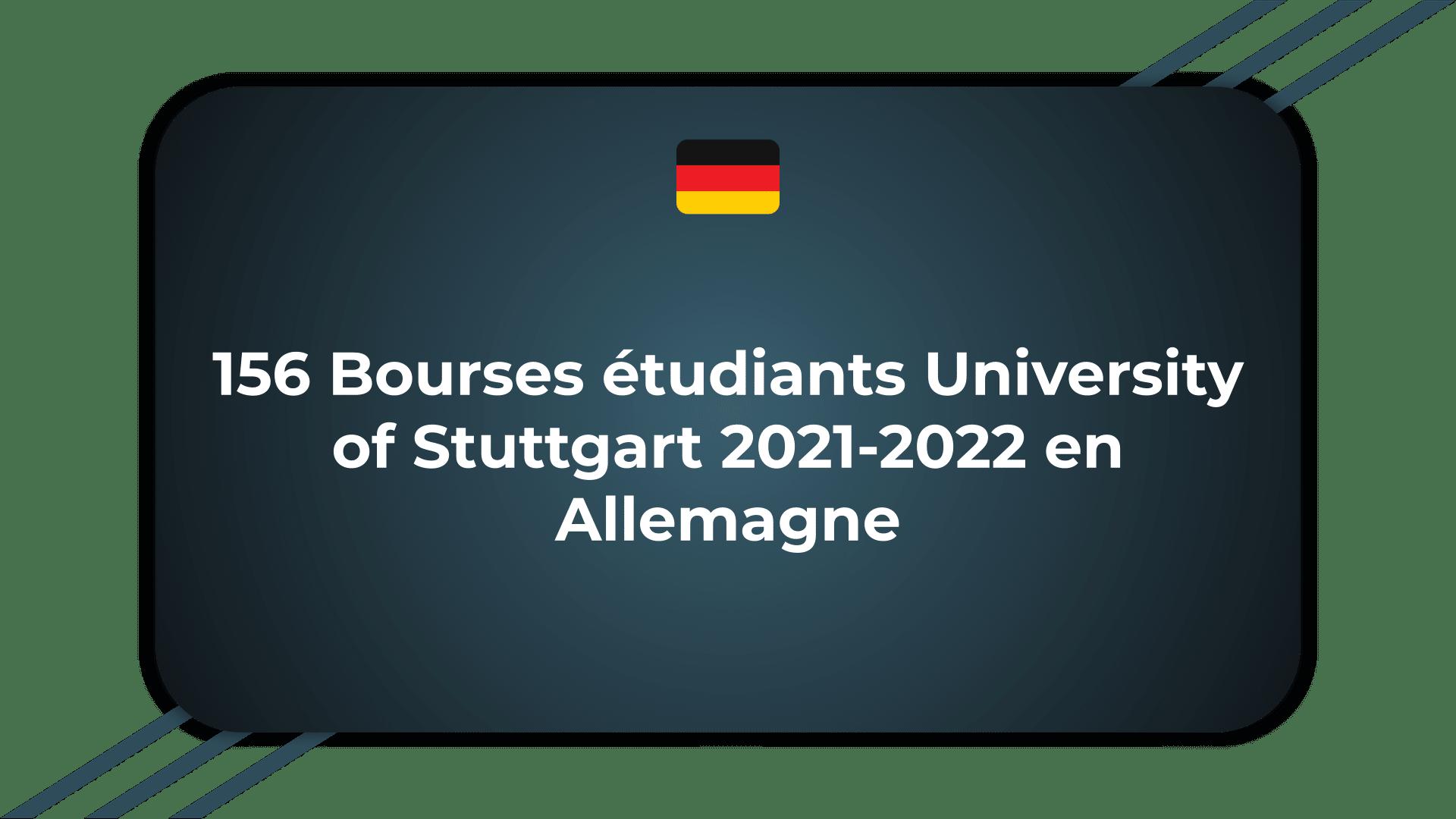 Bourses étudiants University of Stuttgart