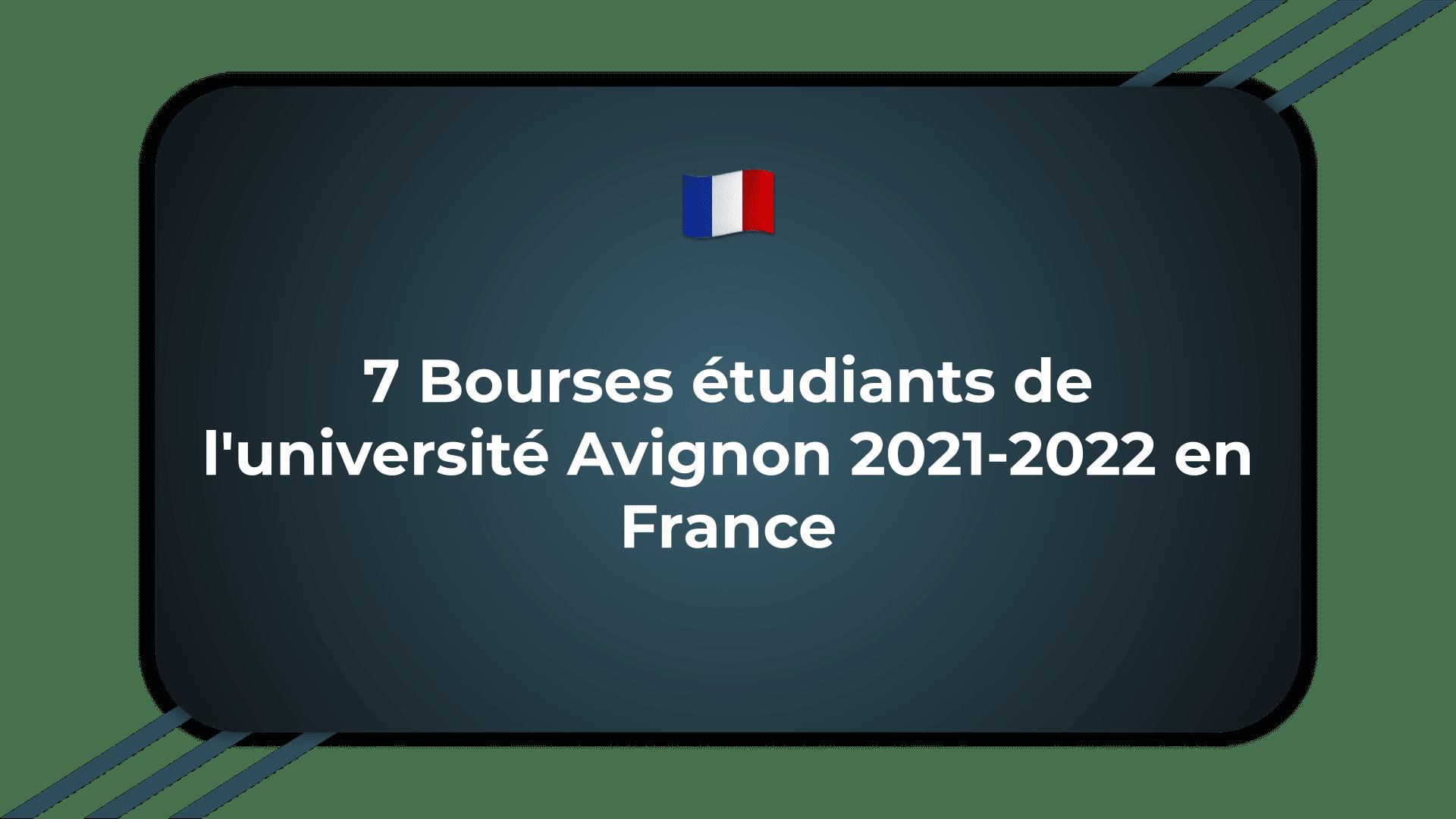 Bourses étudiants de l'université Avignon