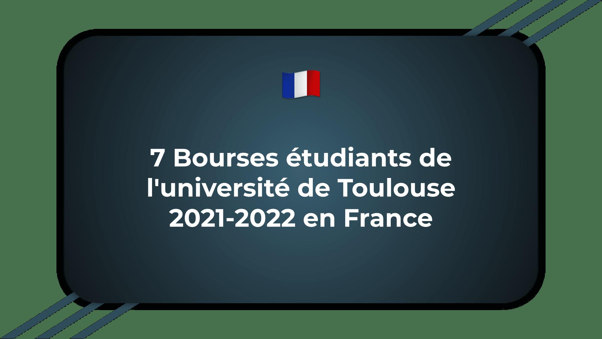 Bourses étudiants de l'université de Toulouse