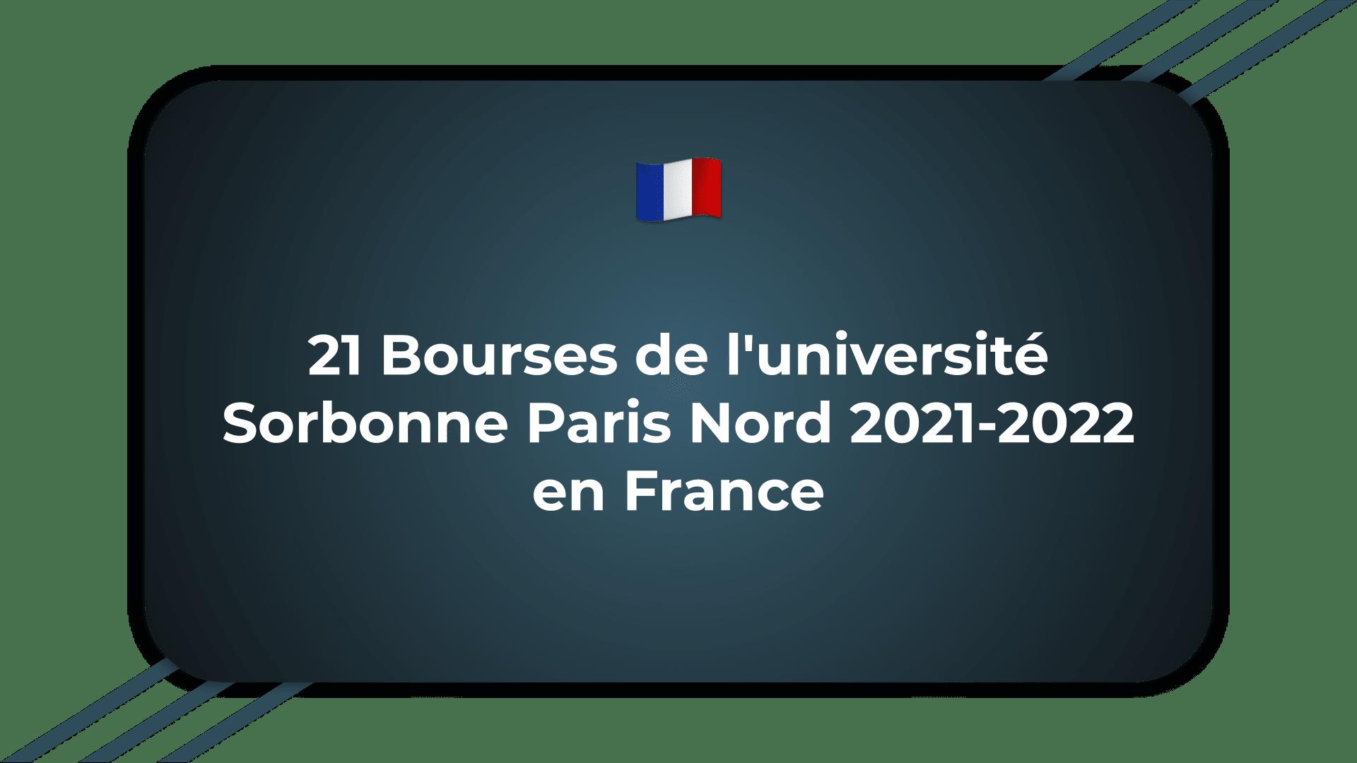 Bourses de l'université Sorbonne Paris Nord