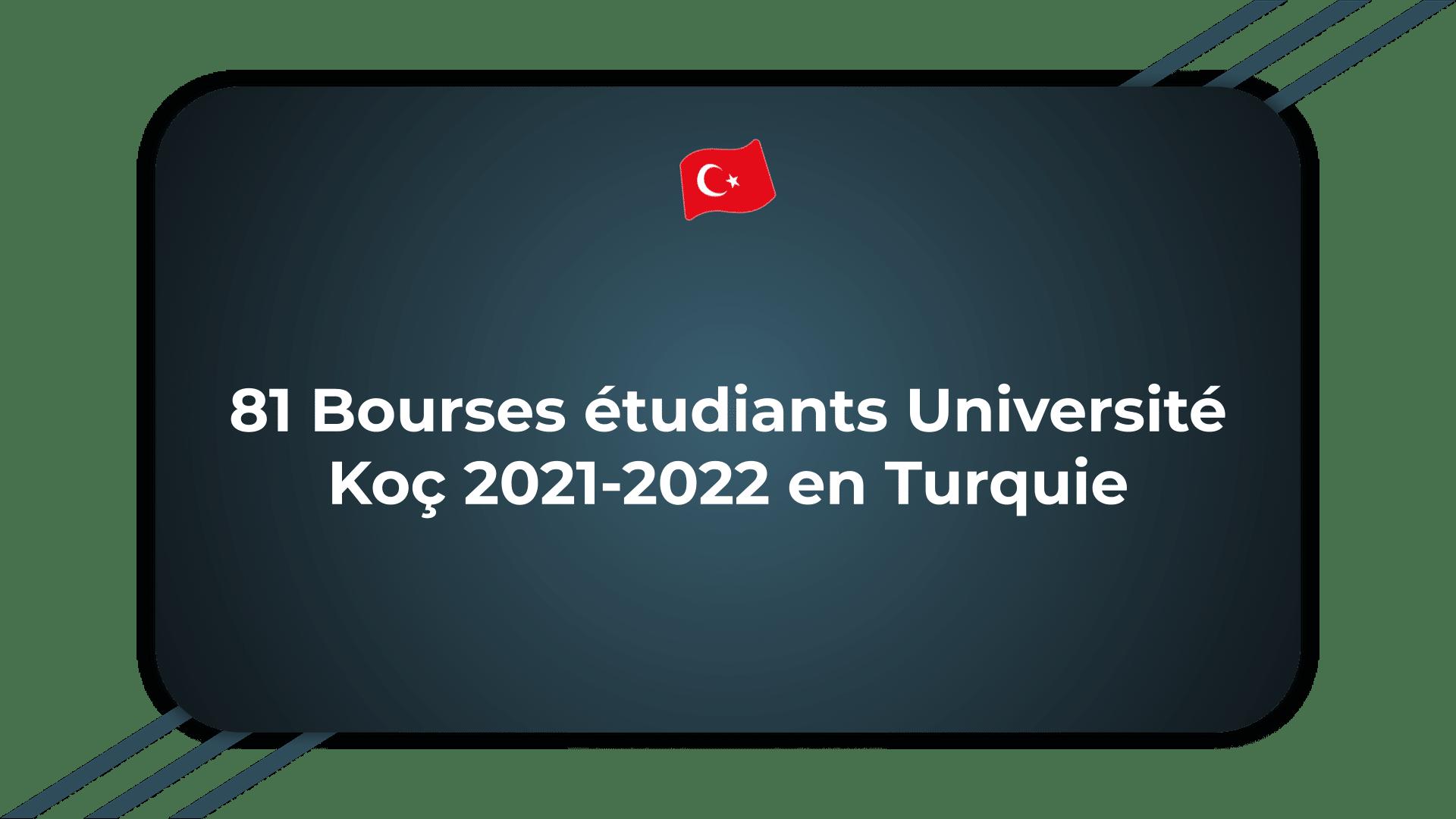 Bourses étudiants Université Koç