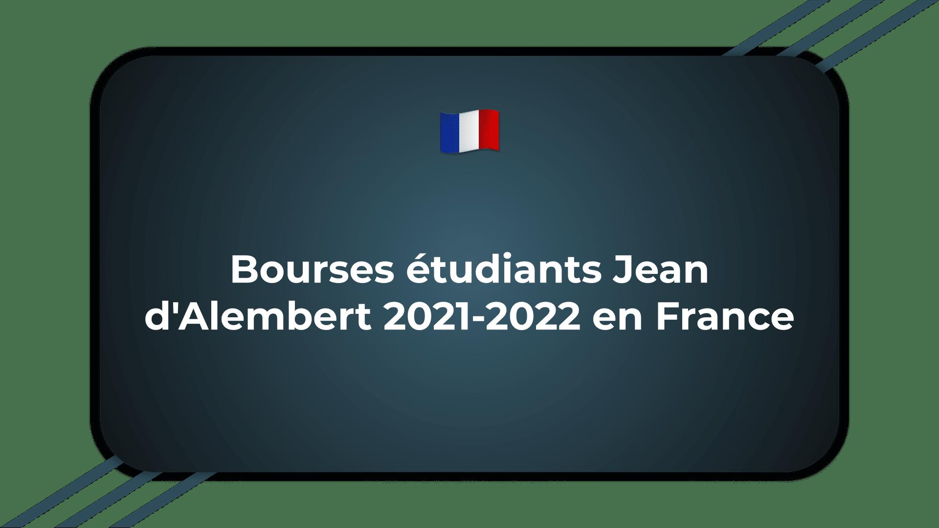 Bourses étudiants Jean d'Alembert