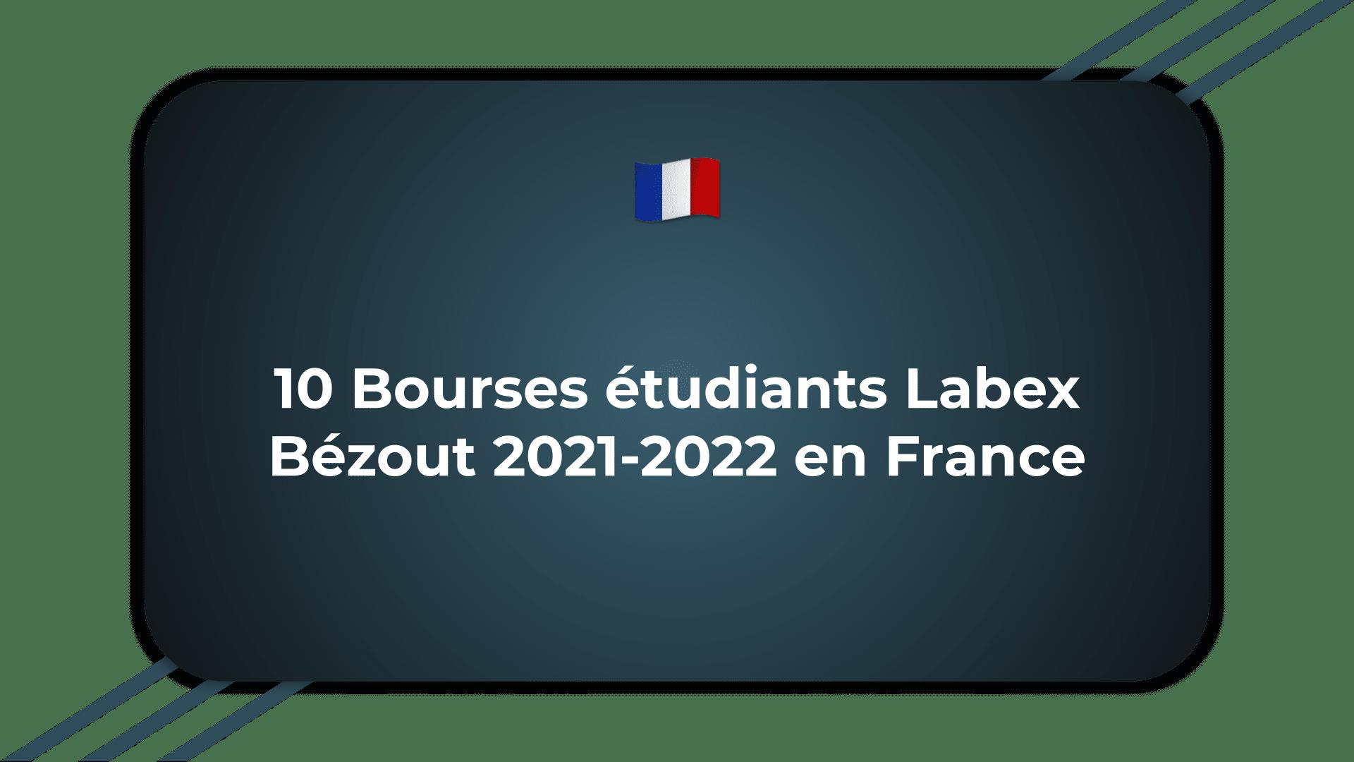 Bourses étudiants Labex Bézout