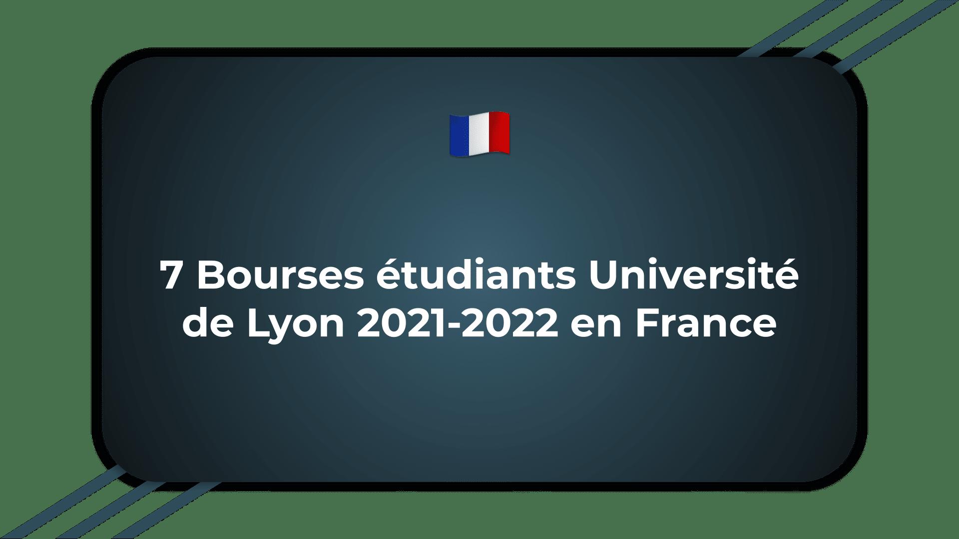 Bourses étudiants Université de Lyon