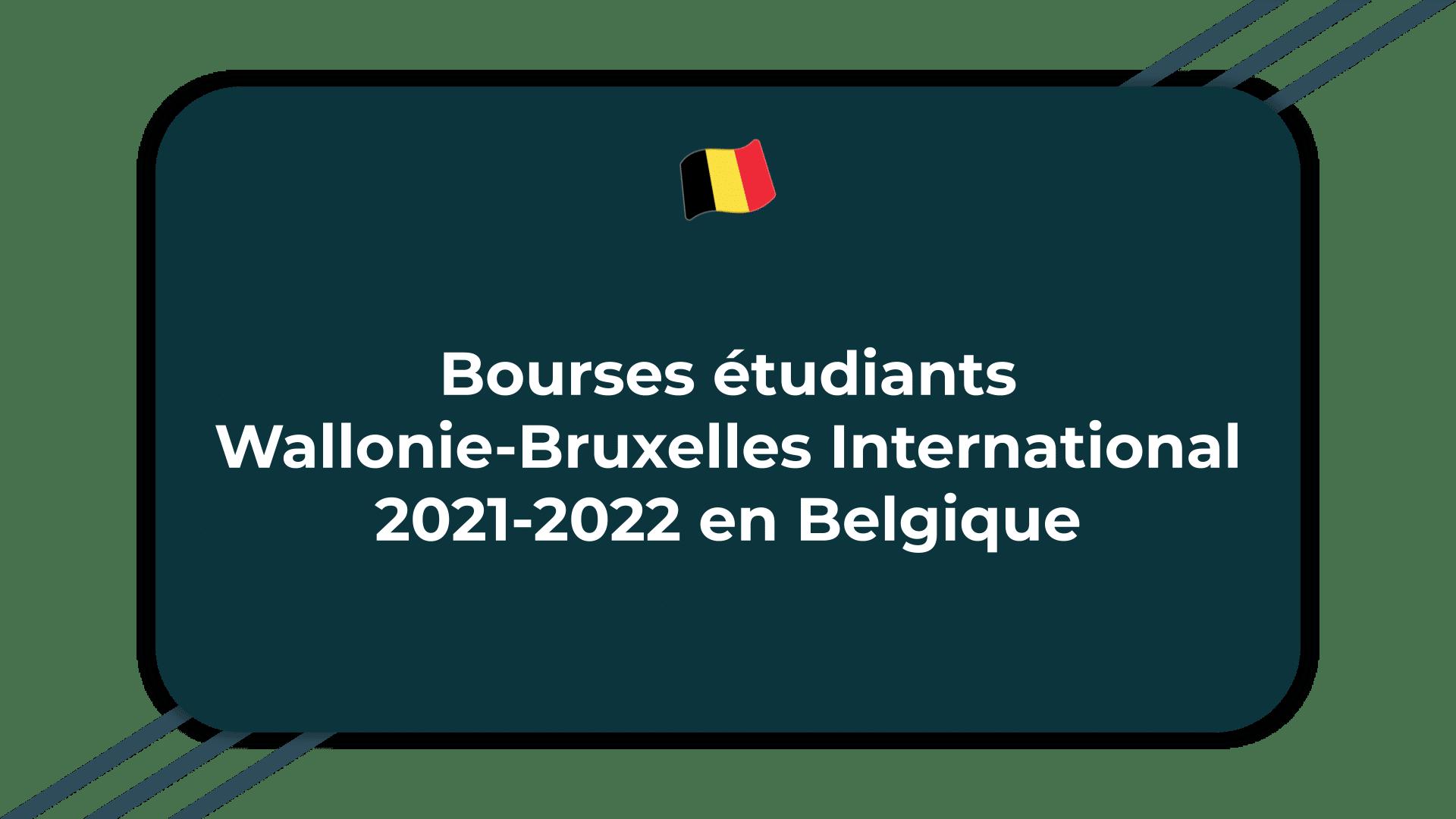 Bourses étudiants Wallonie-Bruxelles International
