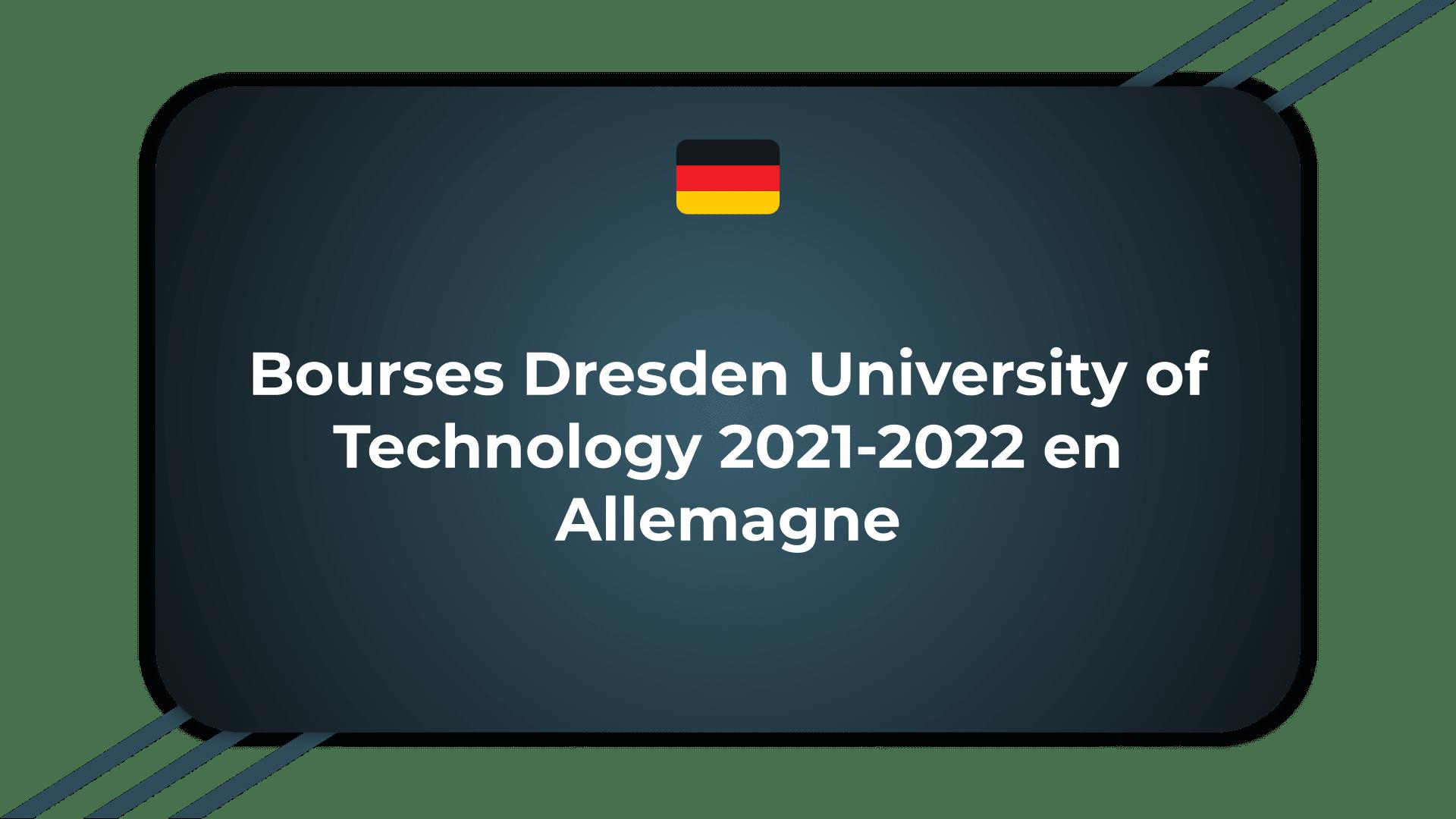 Bourses Dresden University of Technology