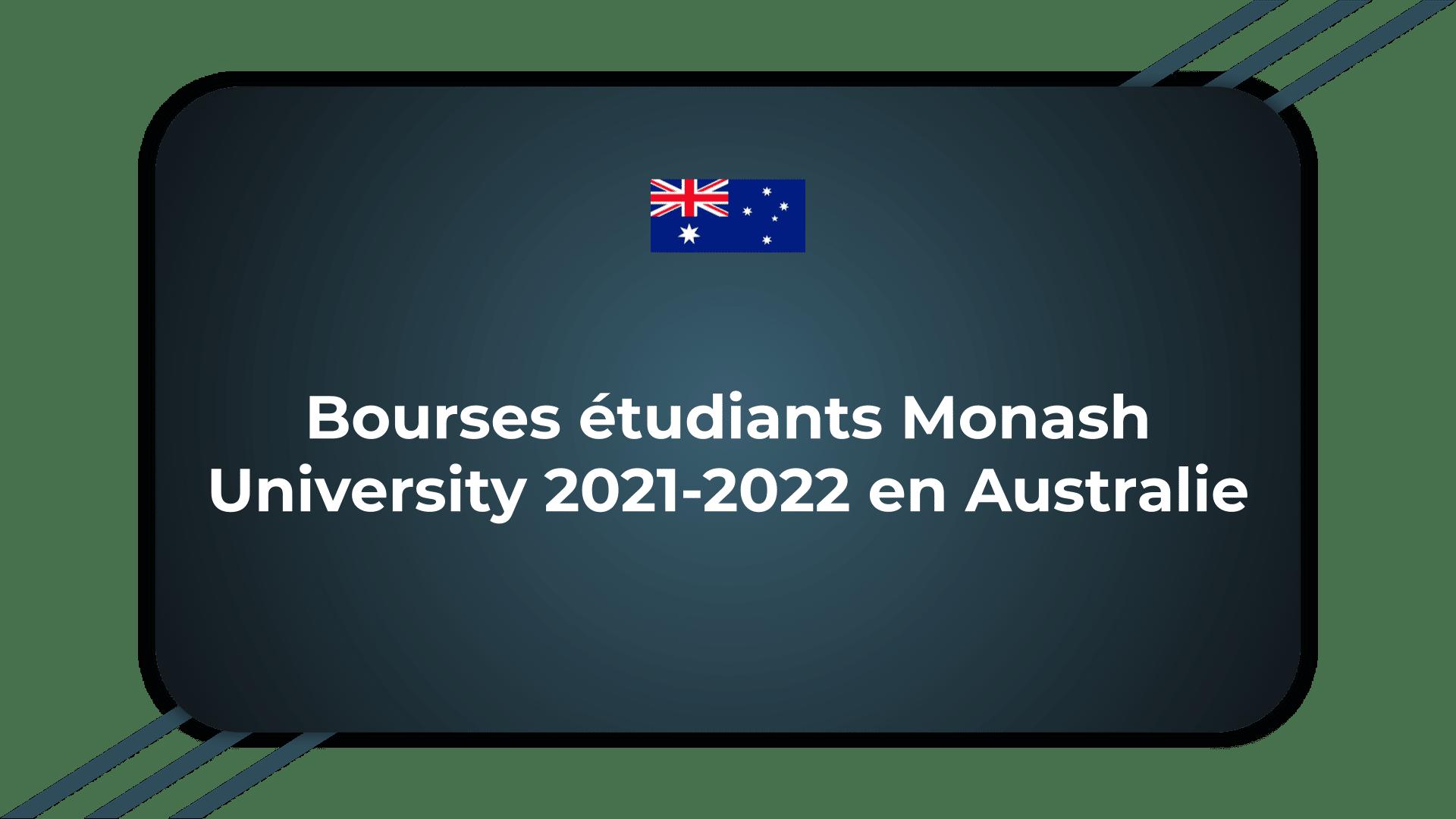 Bourses étudiants Monash University